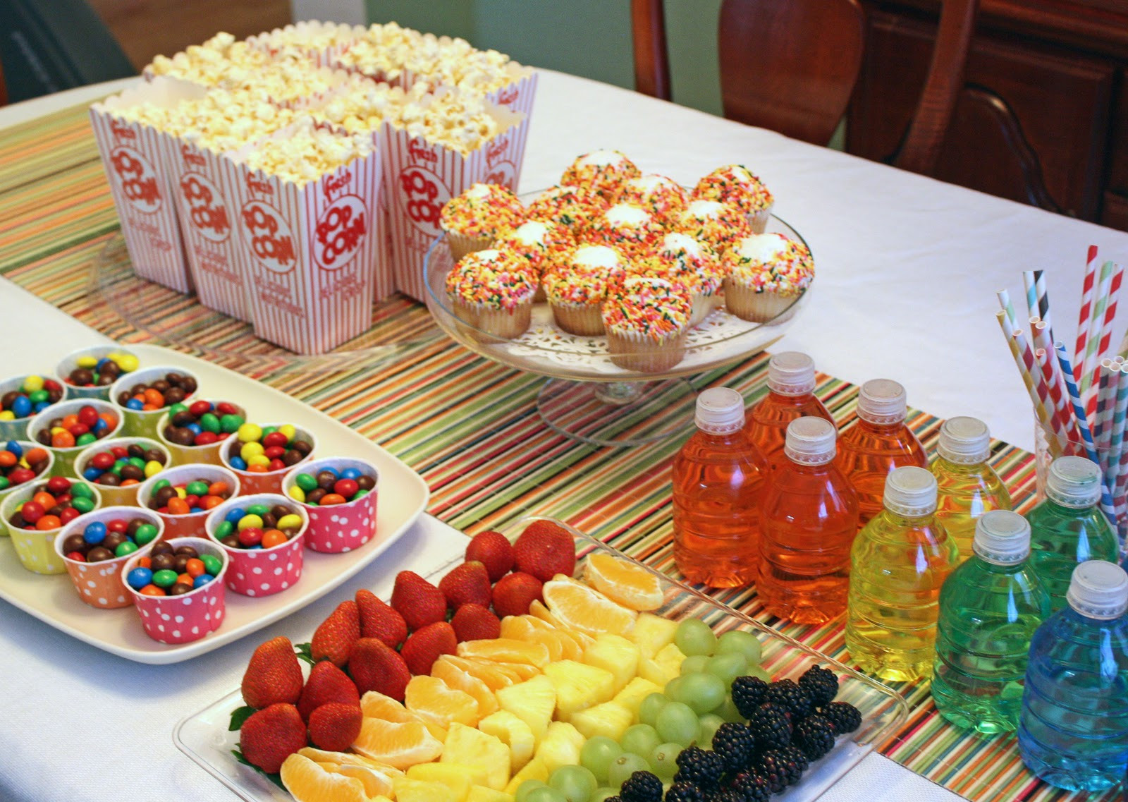 Party Food Ideas For Teenagers  Dreaming In Scraps Muppets rainbows and 10 crazy girls