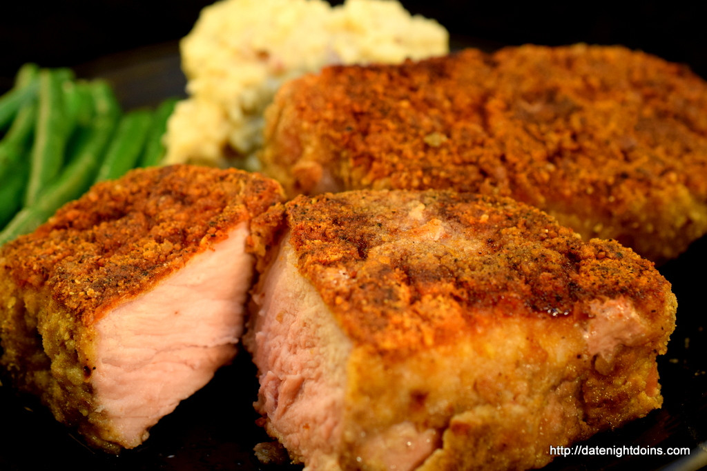Pellet Grill Pork Chops  Pretzel Parmesan Crusted Pork Chops Date Night Doins BBQ
