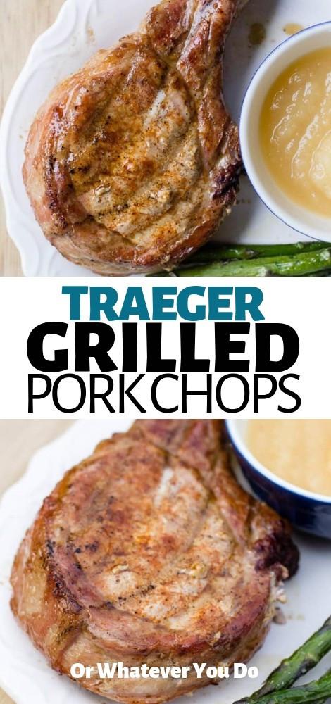 Pellet Grill Pork Chops  Traeger Grilled Pork Chops Recipe