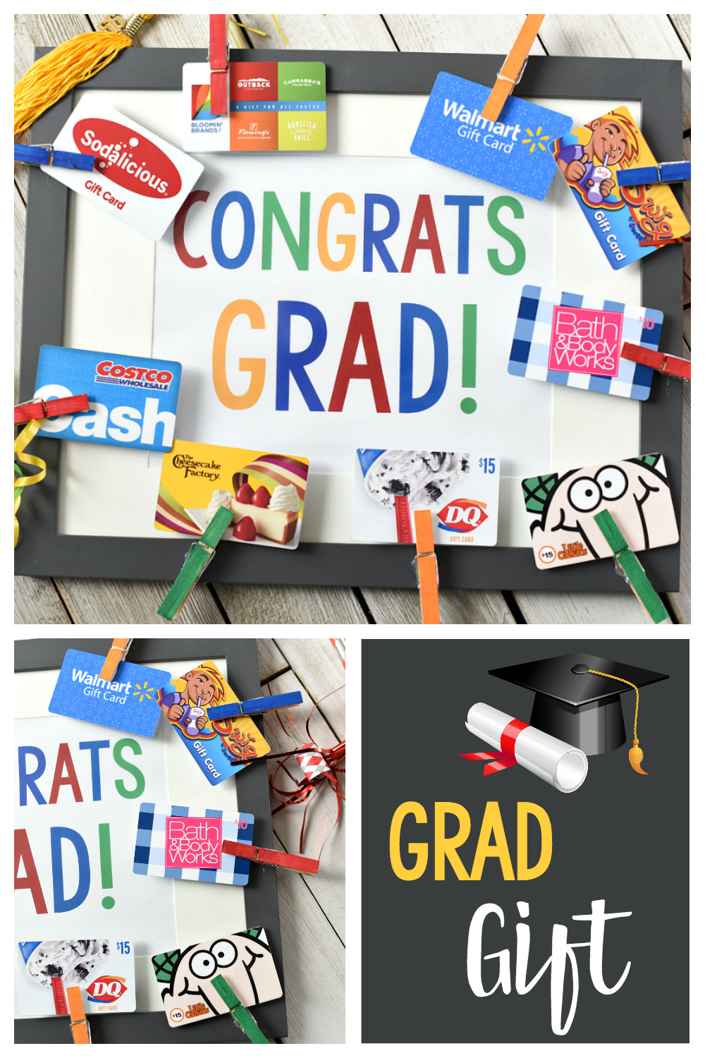 Phd Graduation Gift Ideas For Him  Cute Graduation Gifts Congrats Grad Gift Card Frame – Fun