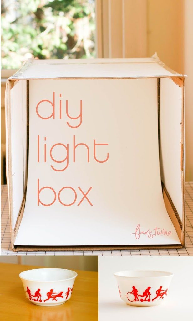 Photo Light Box DIY  DIY Light Box a finish fifty project Flax & Twine