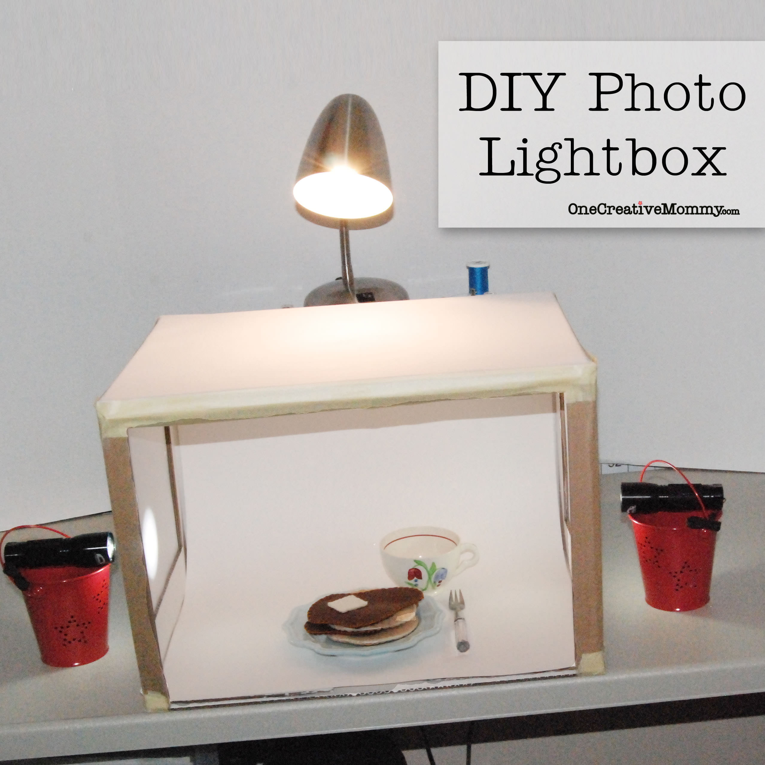 Photo Light Box DIY  Grow Your Blog Series DIY Lightbox onecreativemommy