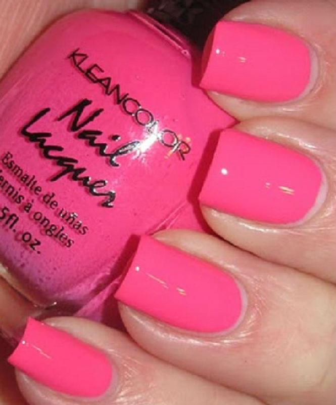 Pink Nail Colors  1 New Kleancolor NEON PINK Nail Polish Art Varnish