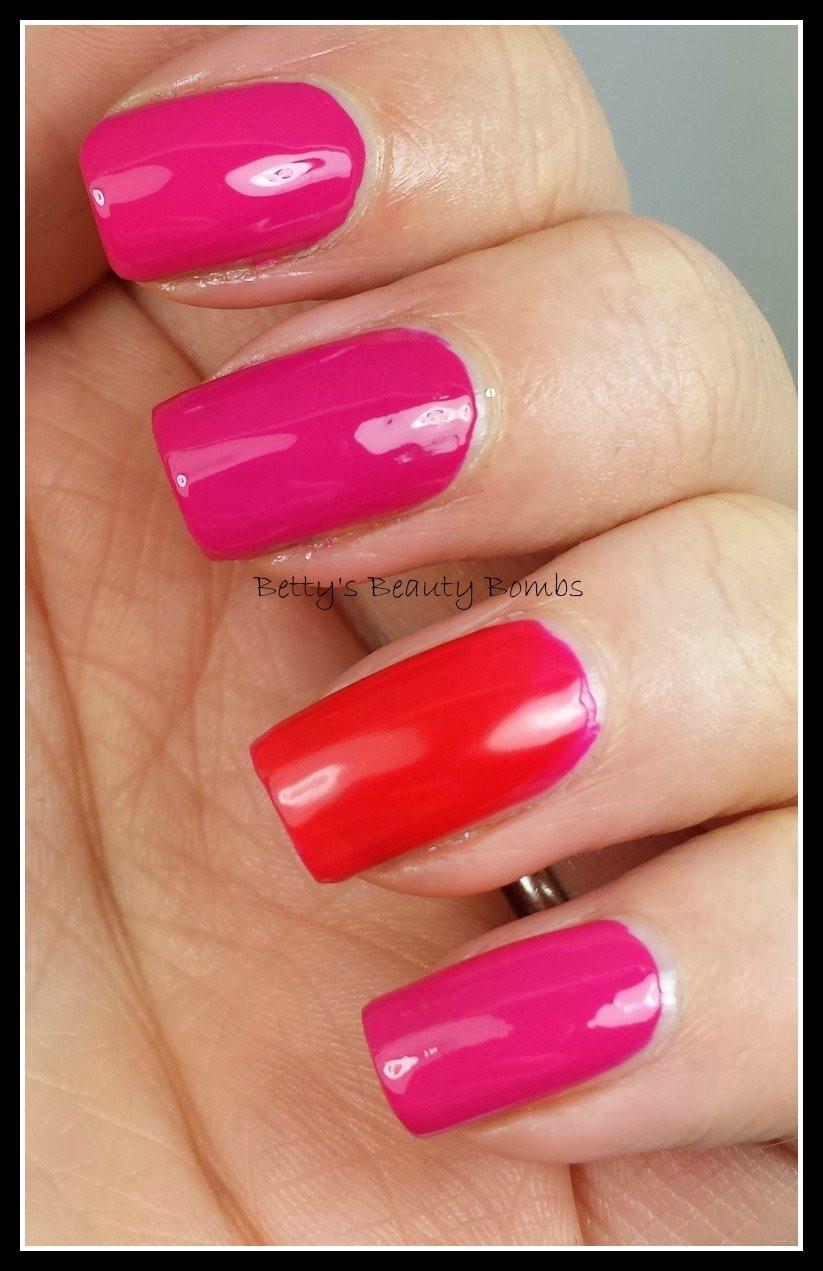 Pink Nail Colors  Same or Similar Saturday Hot Pink Nail Polish Lazy Betty