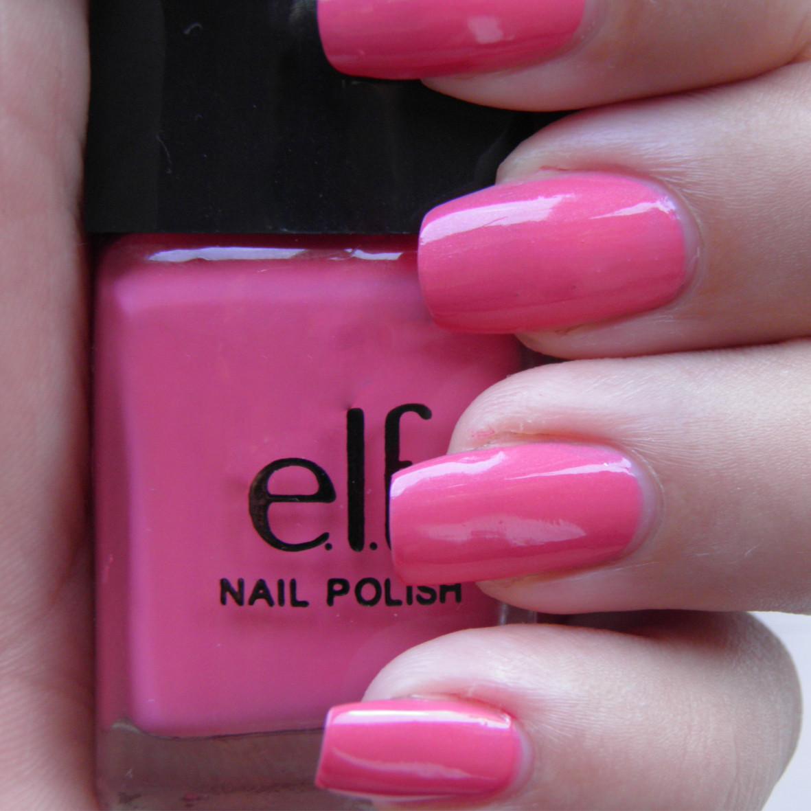 Pink Nail Colors  Creative nail art Elf nail polish review