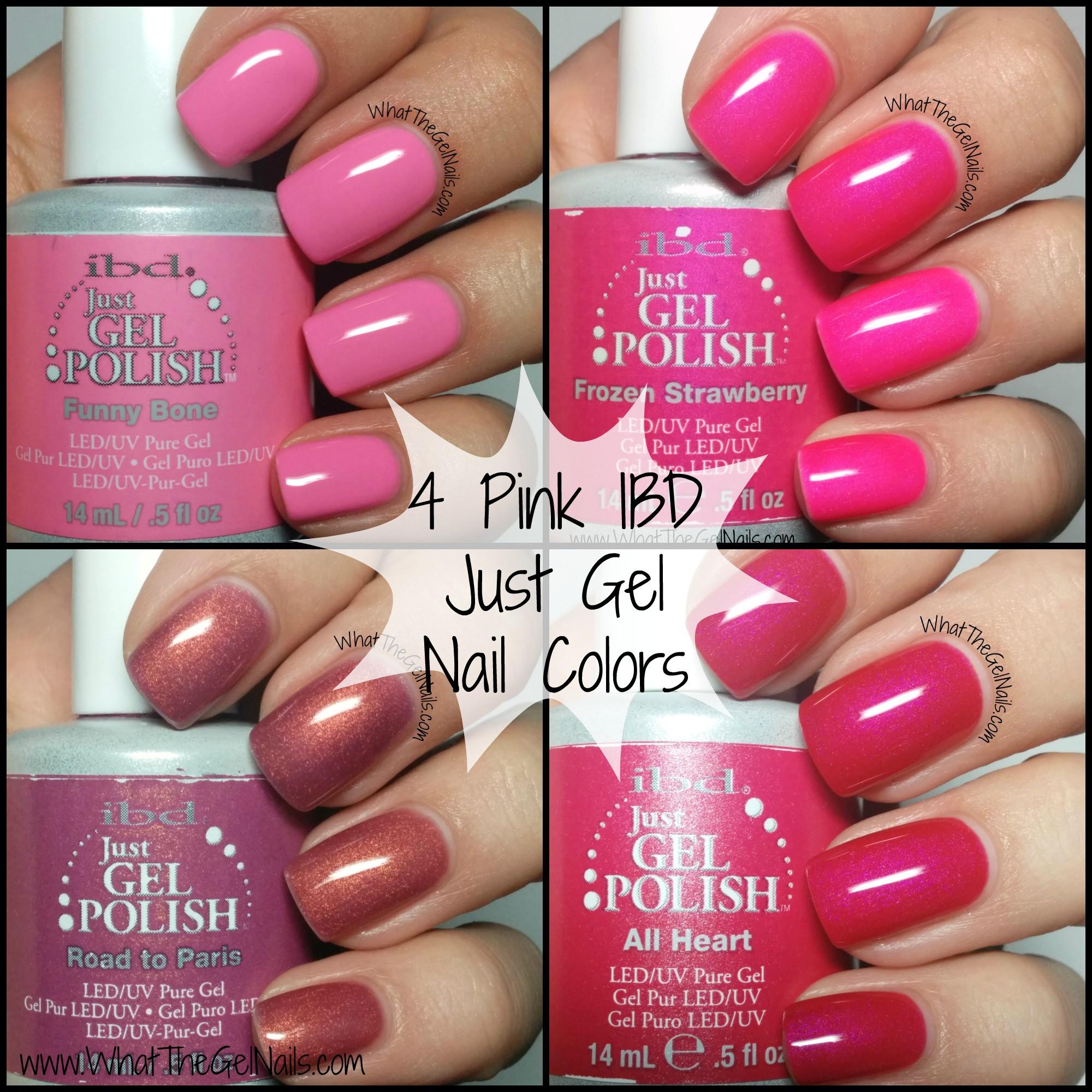 Pink Nail Colors  4 Pink IBD Just Gel Nail Polish Colors