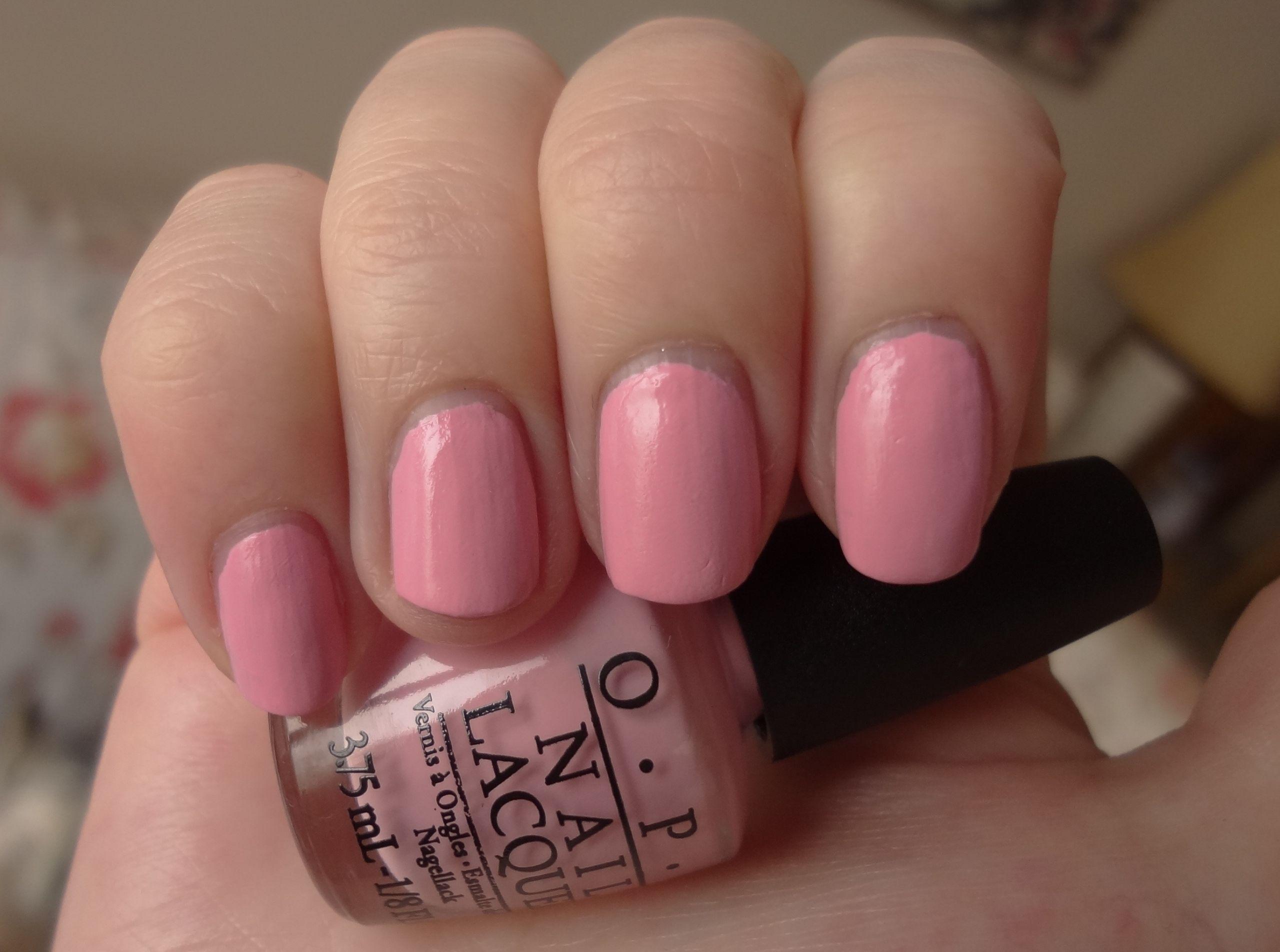 Pink Nail Colors  OPI Pink Friday nail polish review