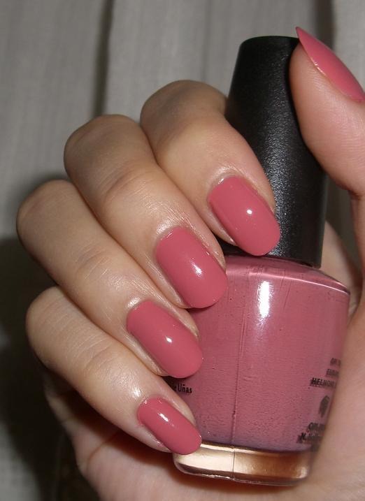 Pink Nail Colors  Blushed Wombat OPI Nantucket Mist NL S26 Nail Polish