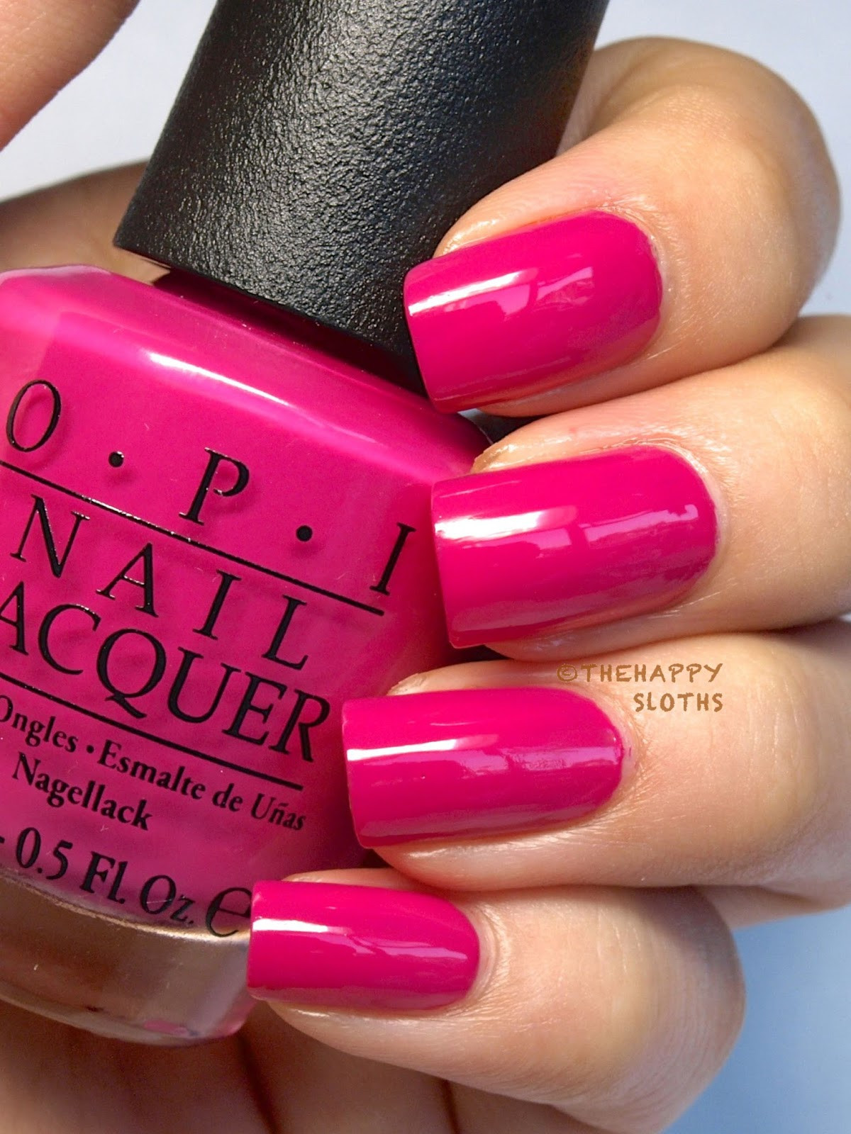 """Pink Nail Colors  Ford Mustang by OPI Nail Polish Collection in """"Race Red"""