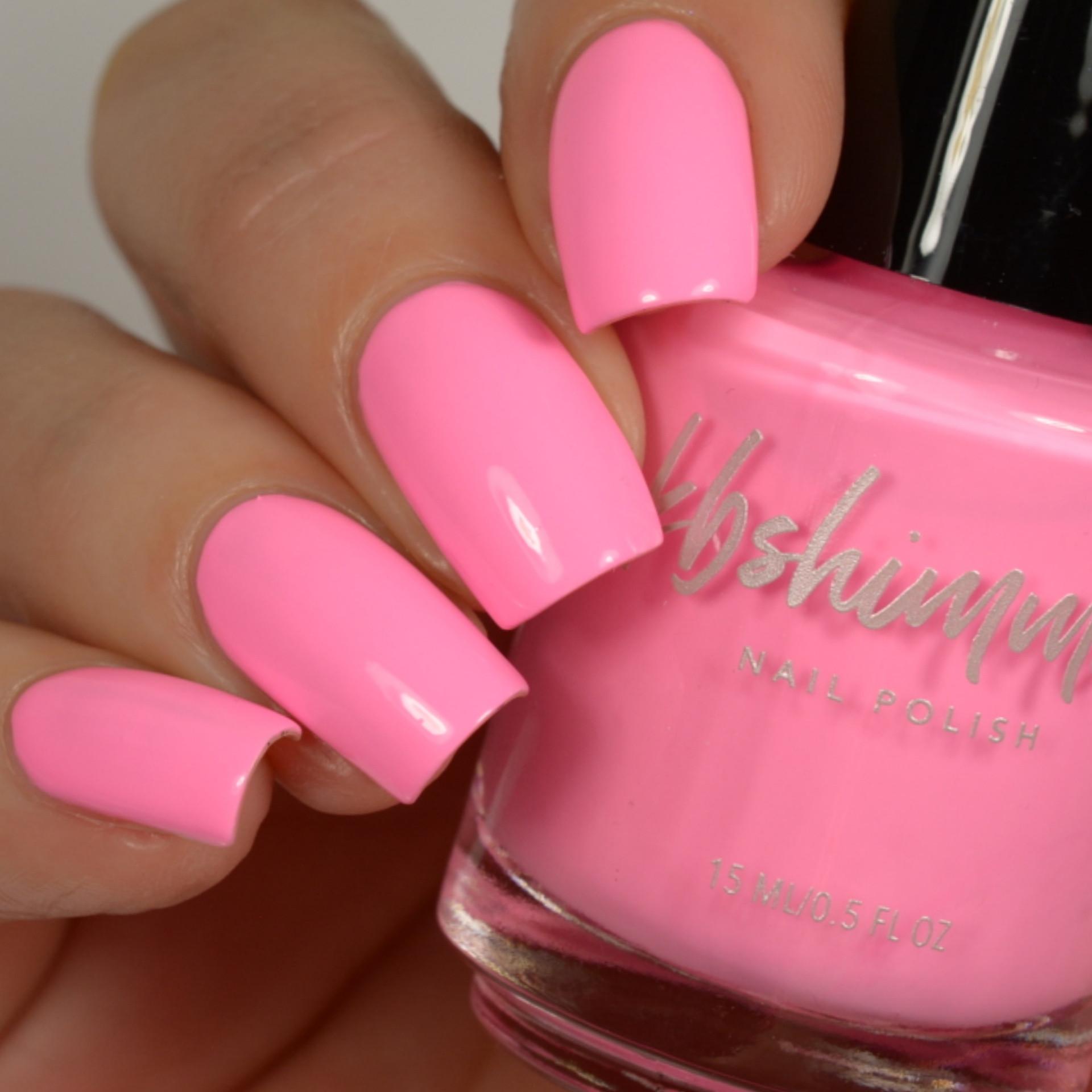 Pink Nail Colors  KBShimmer Pink Swim Cream Nail Polish