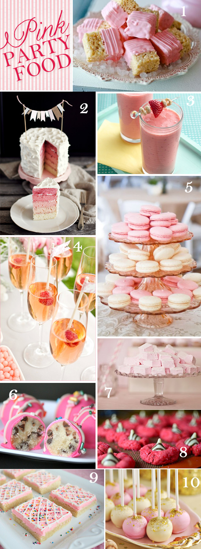 Pink Party Food Ideas  10 Pink Party Foods Drinks I have a pinkalicous