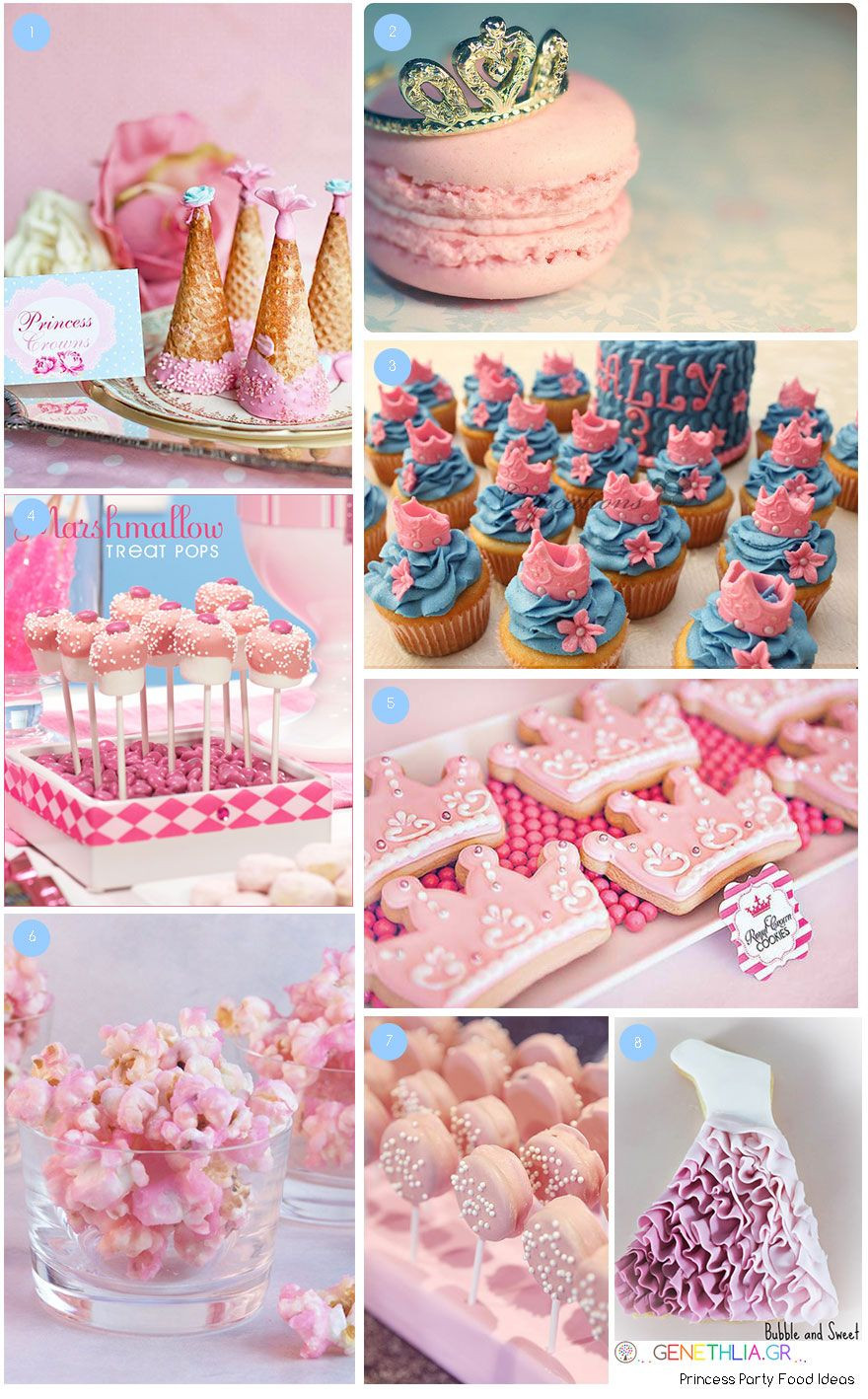 Pink Party Food Ideas  Princess Party Food Ideas Pink popcorn pink chocolate