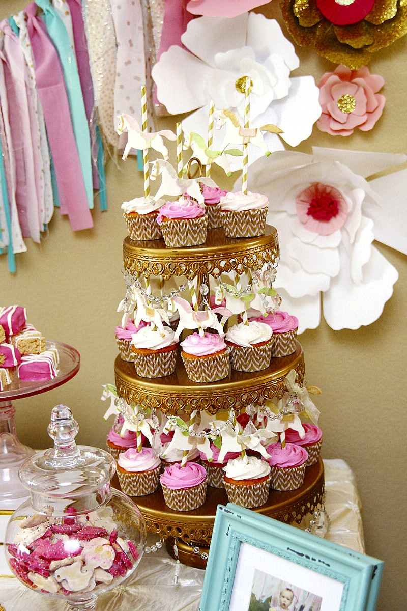 Pink Party Food Ideas  A Pink & Gold Carousel 1st Birthday Party Party Ideas