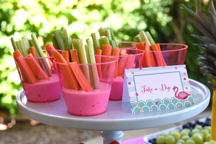 Pink Party Food Ideas  Kara s Party Ideas Pink Flamingo Pool Party