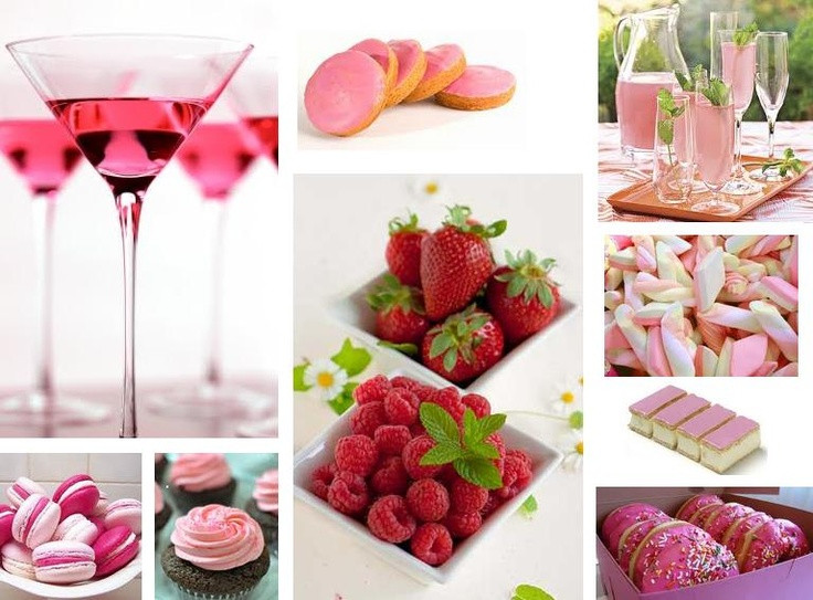 Pink Party Food Ideas  Pink Party food drinks