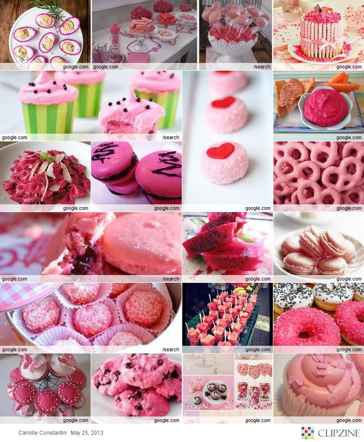 Pink Party Food Ideas  Pink food dyed pasta and dip Party Ideas
