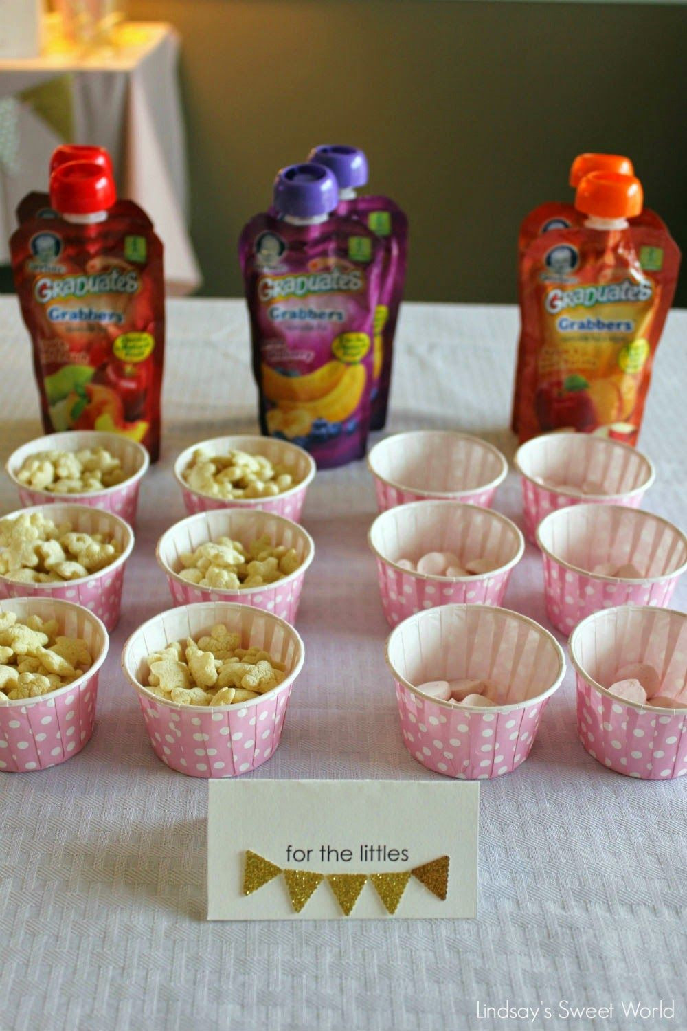 Pink Party Food Ideas  Lindsay s Sweet World Pink and gold first birthday party