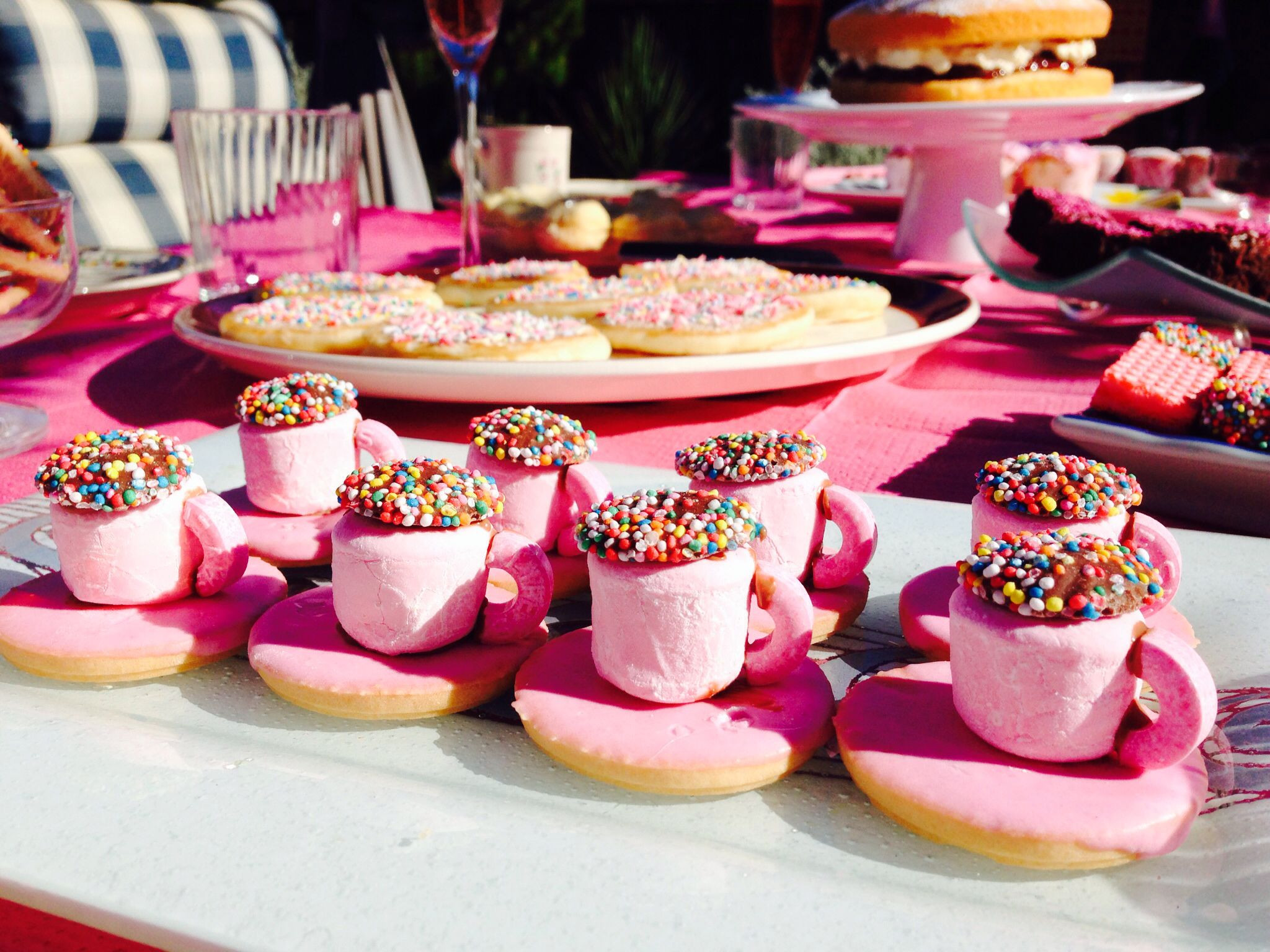 Pink Party Food Ideas  High tea food ideas pink I know who would love this