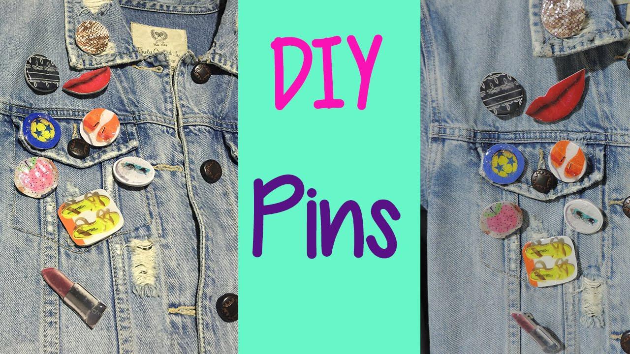 Pins Como Hacer  Cómo hacer pins para tu ropa