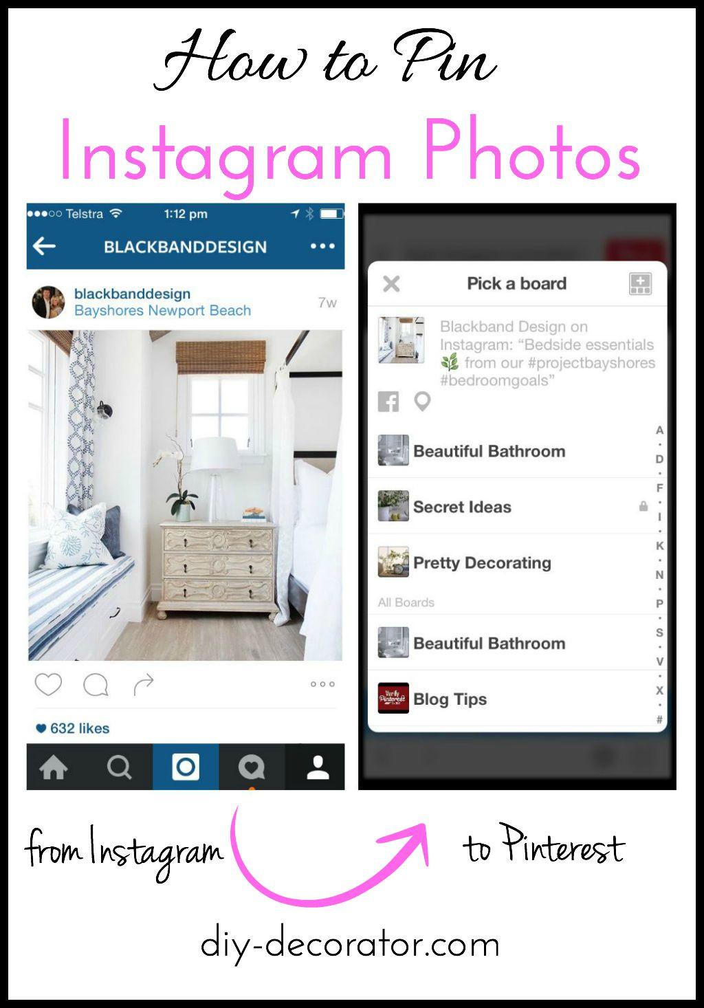 Pins Instagram  How to Pin Instagram s DIY Decorator