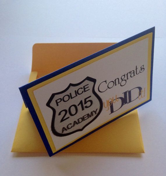 Police Academy Graduation Gift Ideas  Police Academy Graduation Gift Card Holder by