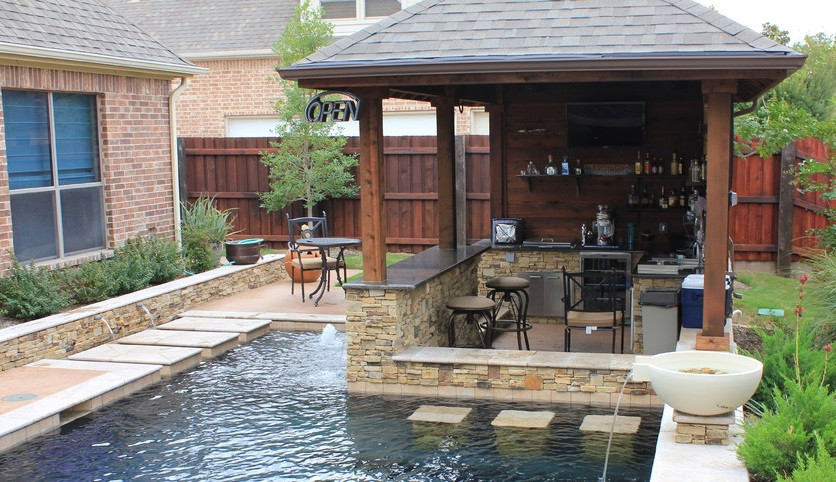 Pool With Outdoor Kitchen  21 insanely clever design ideas for your outdoor kitchen