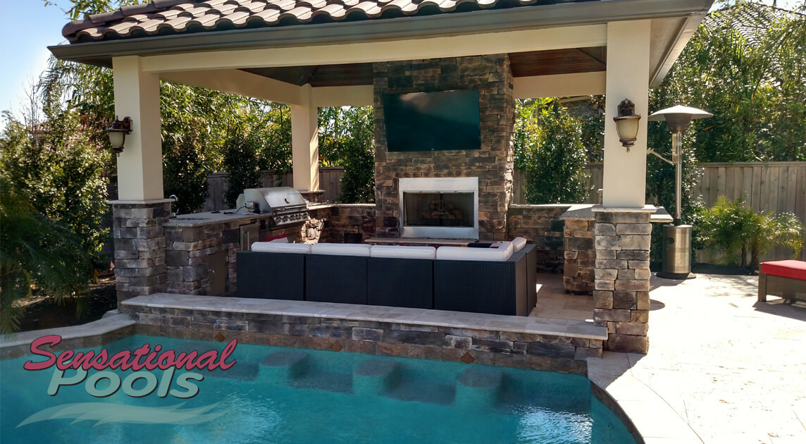 Pool With Outdoor Kitchen  Outdoor Living