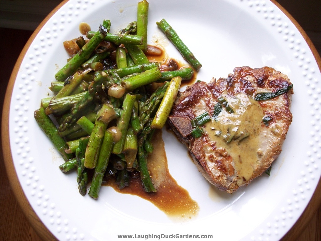 Pork Chop Side Dishes Recipes  Asparagus – Laughing Duck Gardens & Cookery