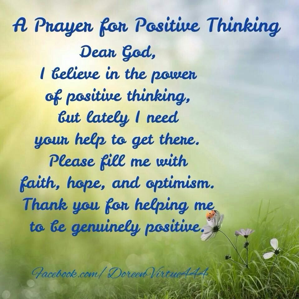 Positive Prayer Quotes  A PRAYER FOR POSITIVE THINKING With images