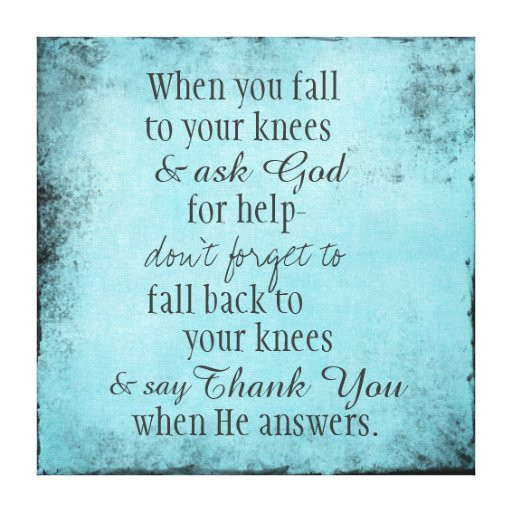 Positive Prayer Quotes  Inspirational Christian Quote Message Canvas Print