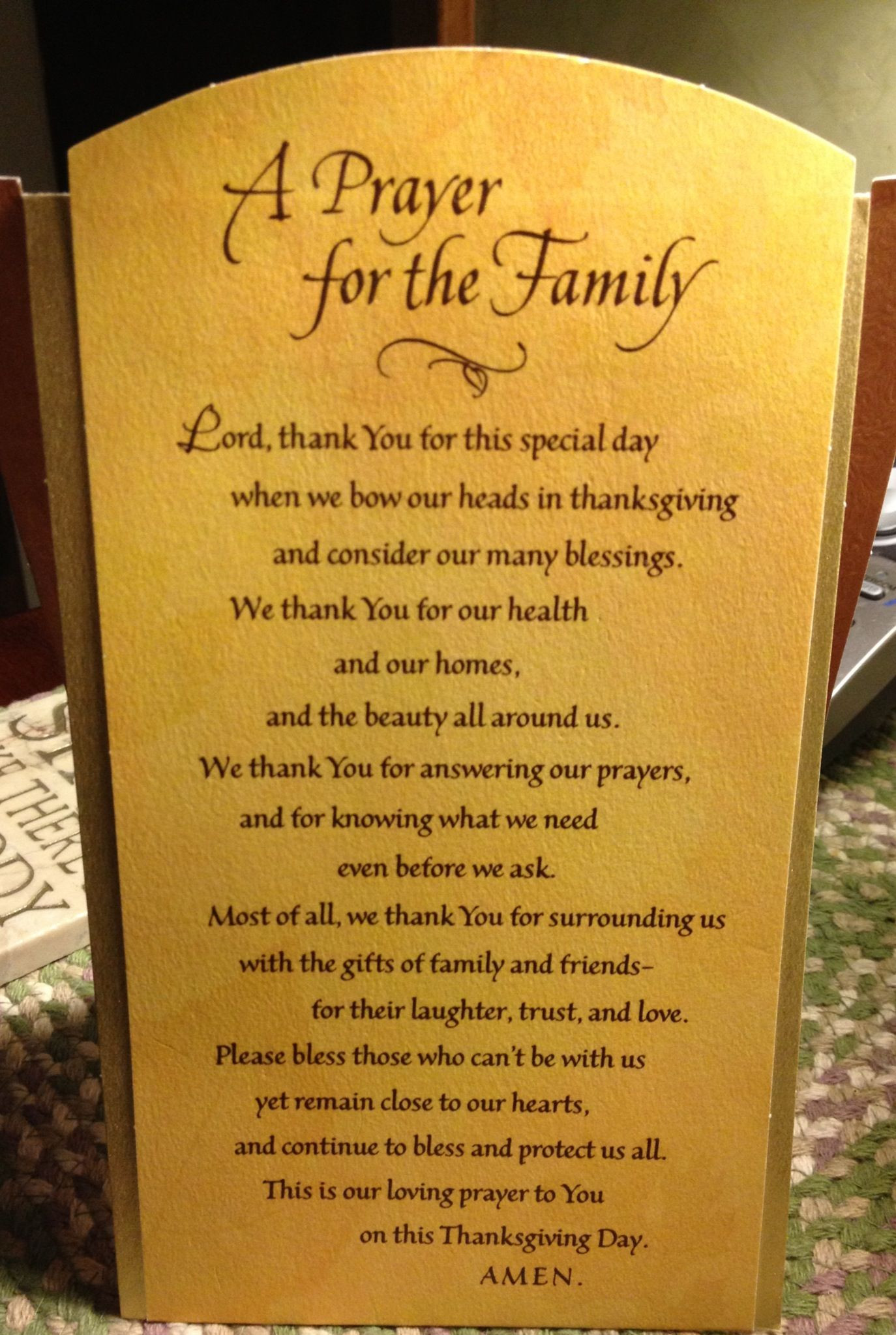 Prayer Quotes For Family And Friends  Thanksgiving Family Prayer Ideas Traditional Modern