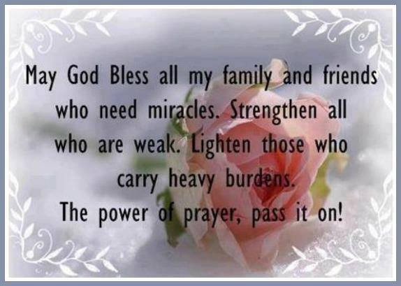 Prayer Quotes For Family And Friends  God Bless All My Friends And Family s and