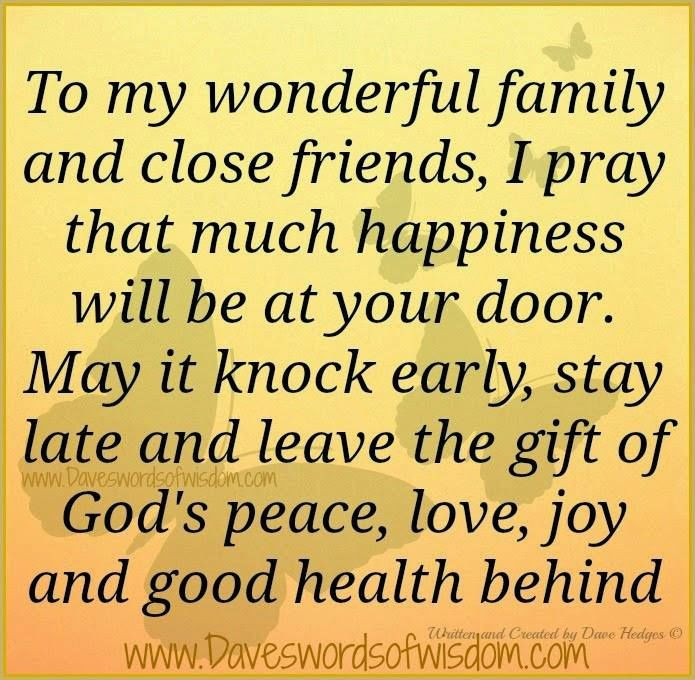 Prayer Quotes For Family And Friends  To My Wonderful Family And Close Friends s