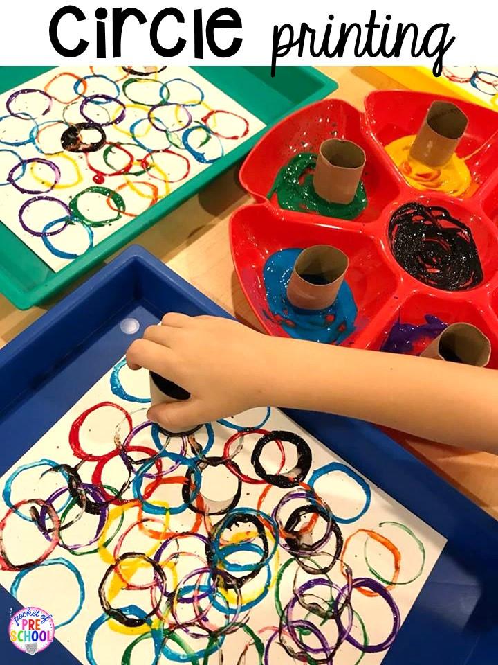 Preschool Art Project  2D Shape Activities for Preschool Pre K and Kindergarten