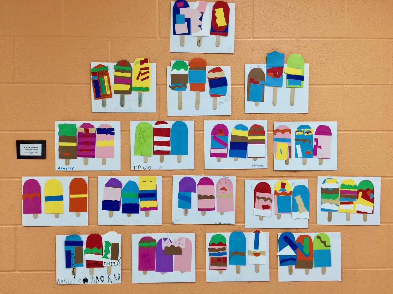Preschool Art Project  Colorful Preschool Art Project P is for Popsicle Collage