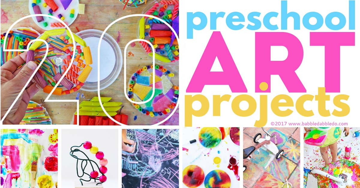 Preschool Art Project  20 Preschool Art Projects Babble Dabble Do