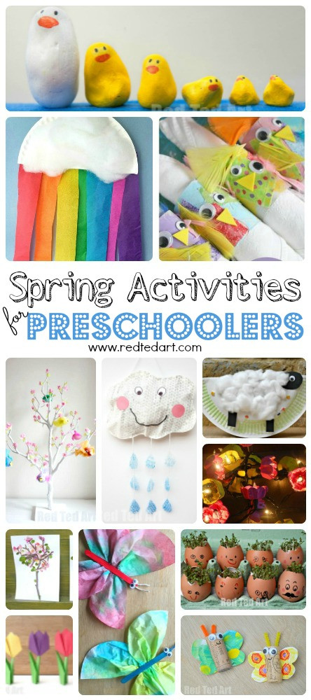 Preschool Art Project  Easy Spring Crafts for Preschoolers and Toddlers Red Ted