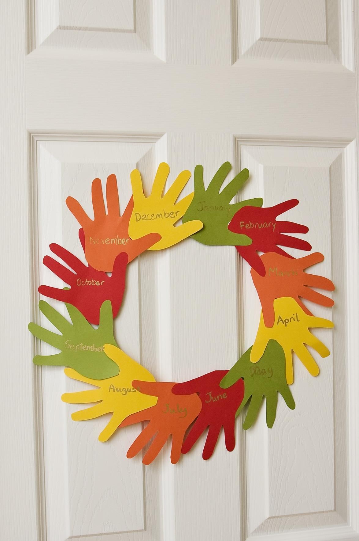 Preschool Craft Activities  Handprint Wreath • The Preschool Toolbox Blog