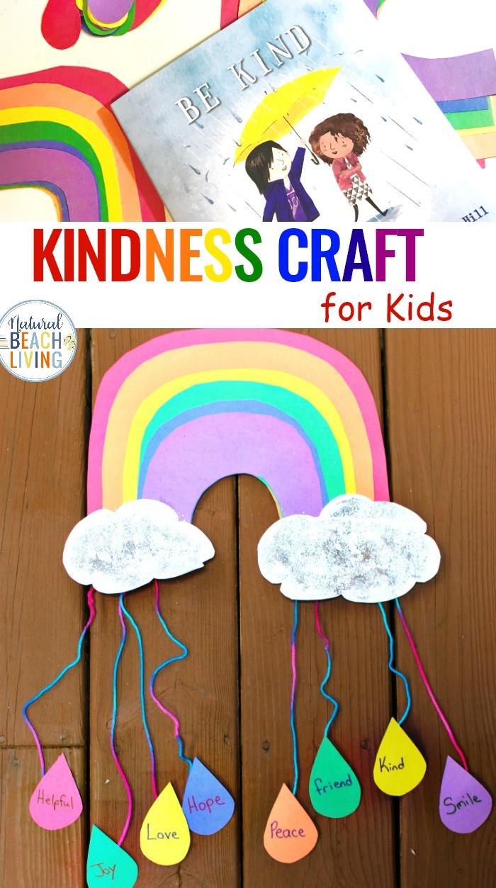 Preschool Craft Activities  Kindness Crafts for Preschoolers Rainbow Crafts