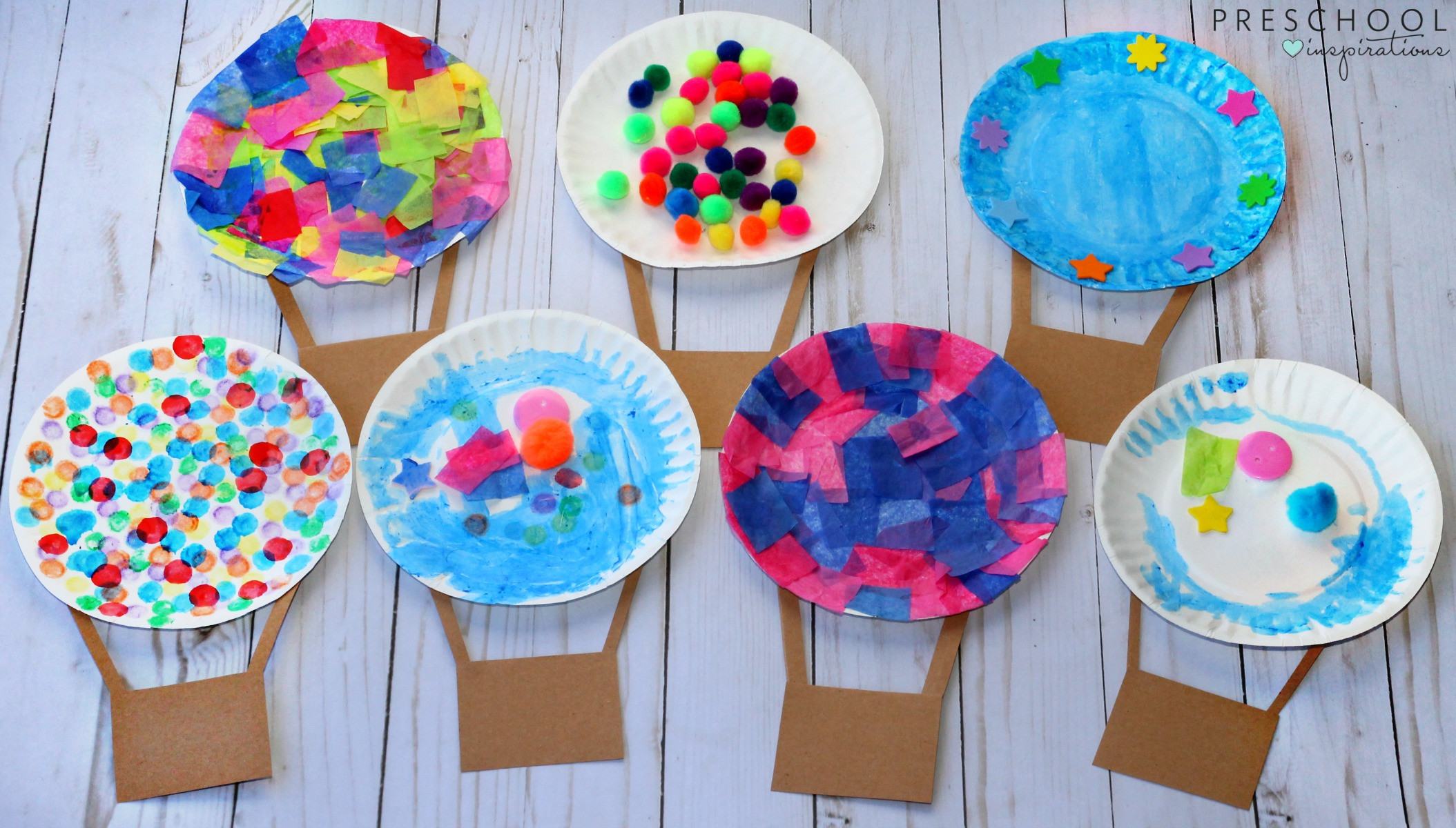 Preschool Craft Activities  Hot Air Balloon Art Activity Preschool Inspirations