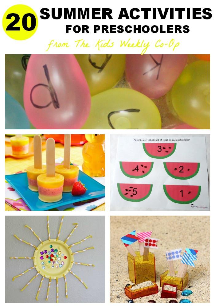 Preschool Craft Activities  20 Summer Activities for Preschoolers Mess for Less