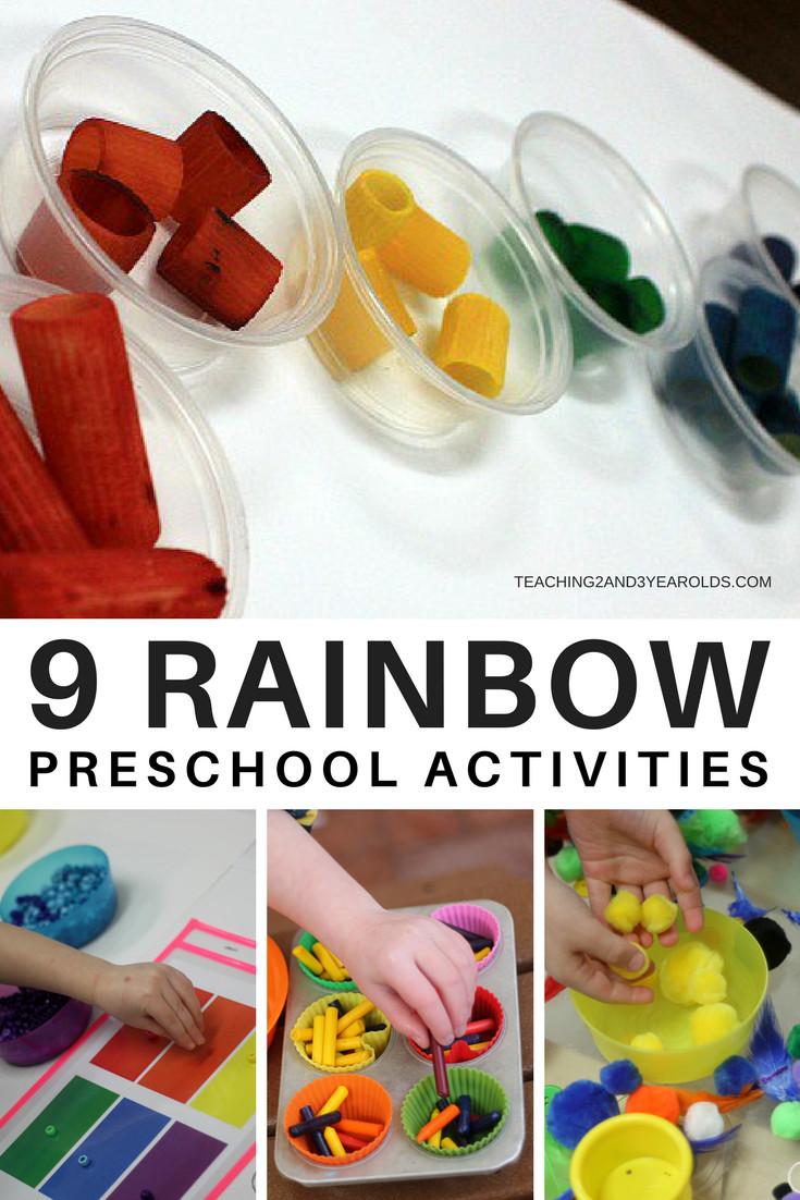 Preschool Craft Activities  9 Awesome Hands Preschool Rainbow Activities