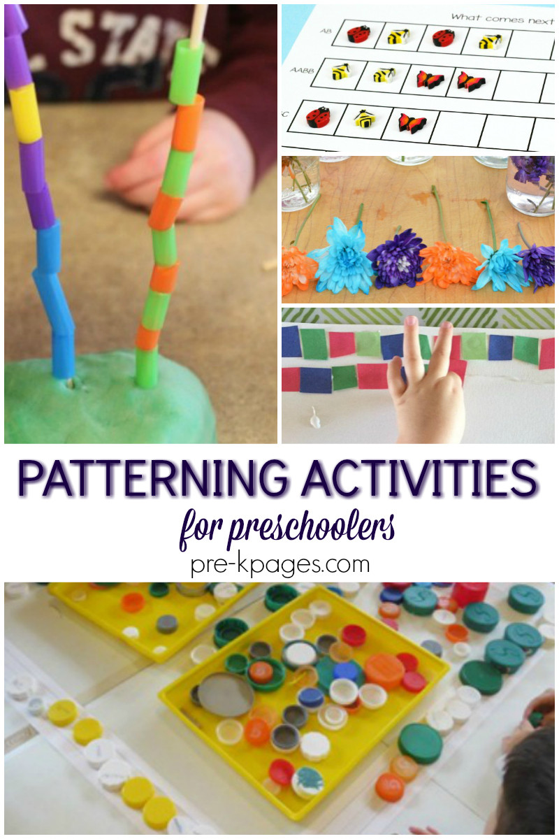 Preschool Craft Activities  Patterning Activities for Preschool Pre K Pages