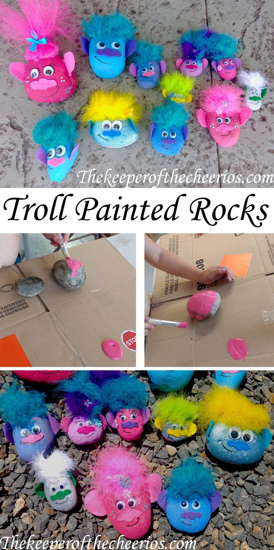 Preschool Craft Activities  TROLL PAINTED ROCKS The Keeper of the Cheerios