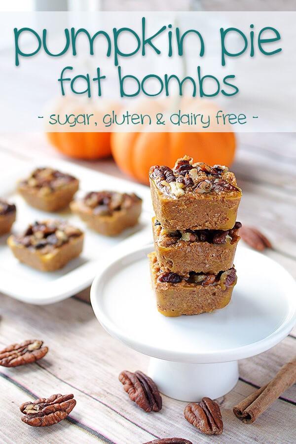 Pumpkin Pie Fat Bombs  Pumpkin Pie Bites Low Carb & Dairy Free Fat Bombs