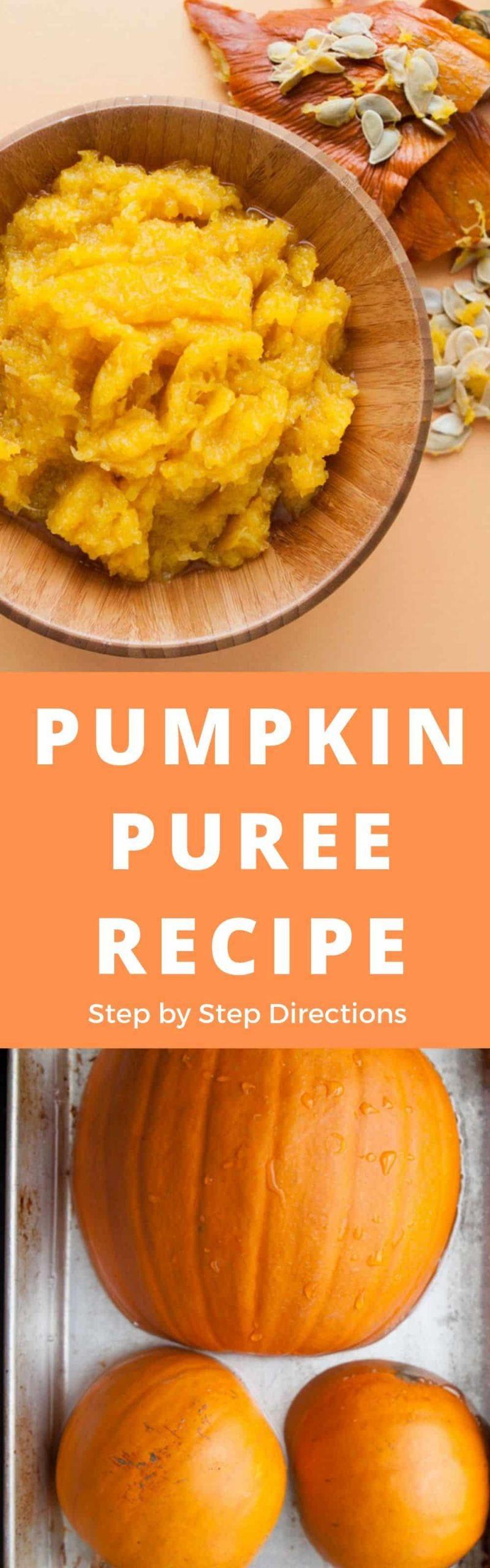 Pumpkin Puree Recipes Healthy  Pumpkin Puree Recipe How to Make Pumpkin Puree