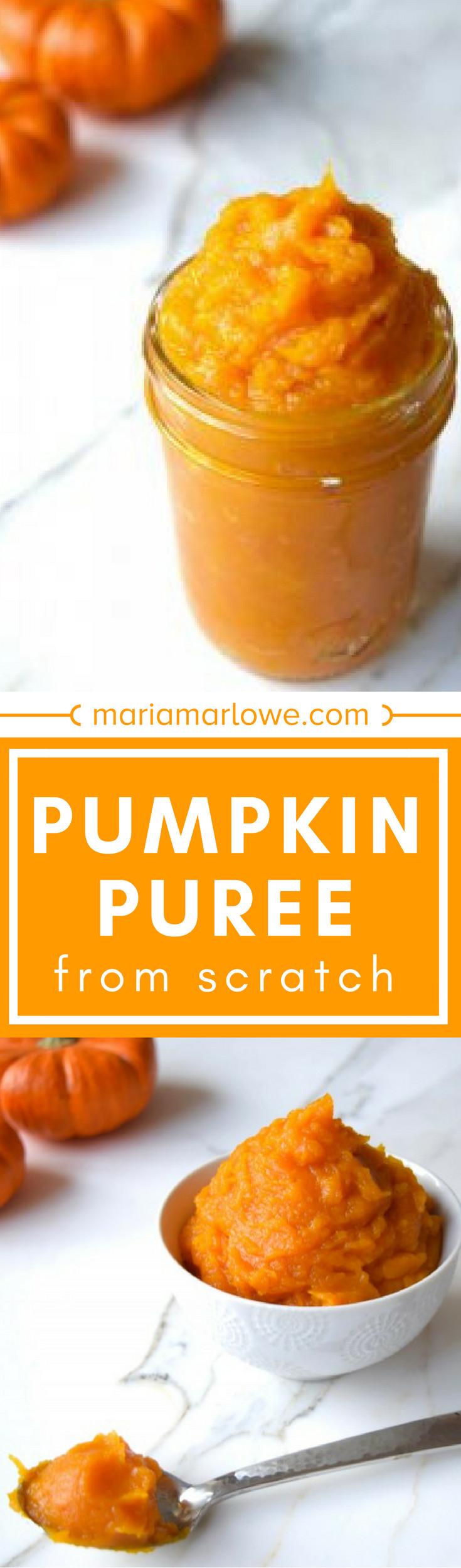 Pumpkin Puree Recipes Healthy  Pumpkin Puree Recipe