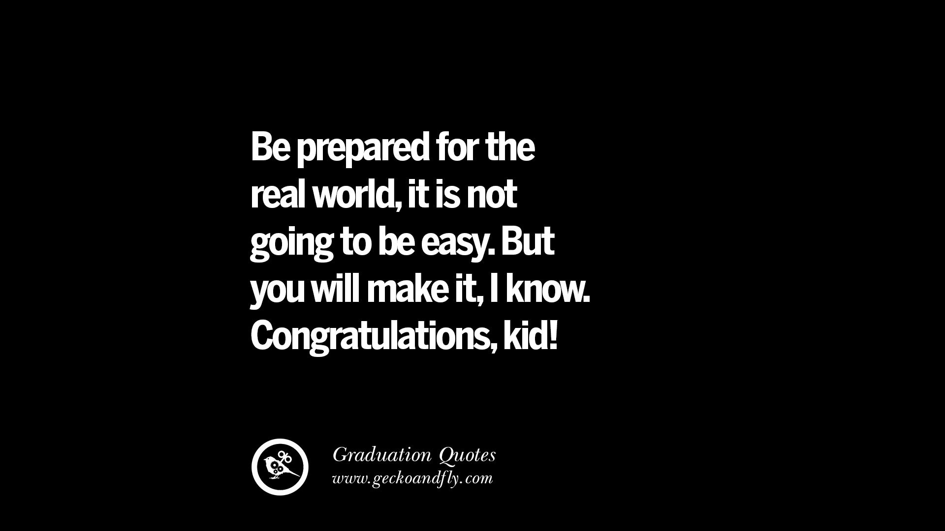 Quote About Graduation From High School  30 Inspirational Quotes on Graduation For High School And