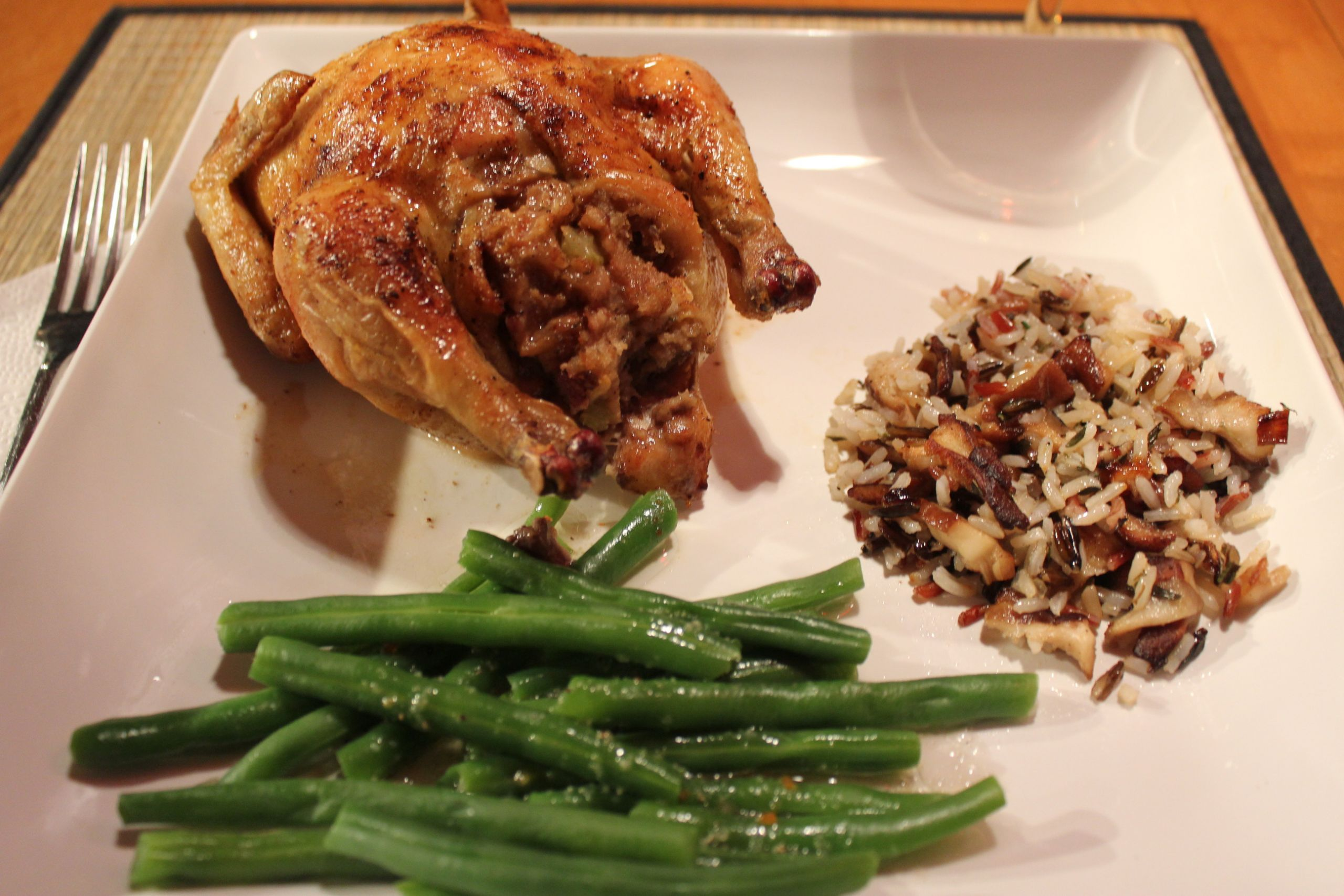 Recipes For Cornish Game Hens  Cornish Game Hens Stuffed Two Ways Part e Wild Rice