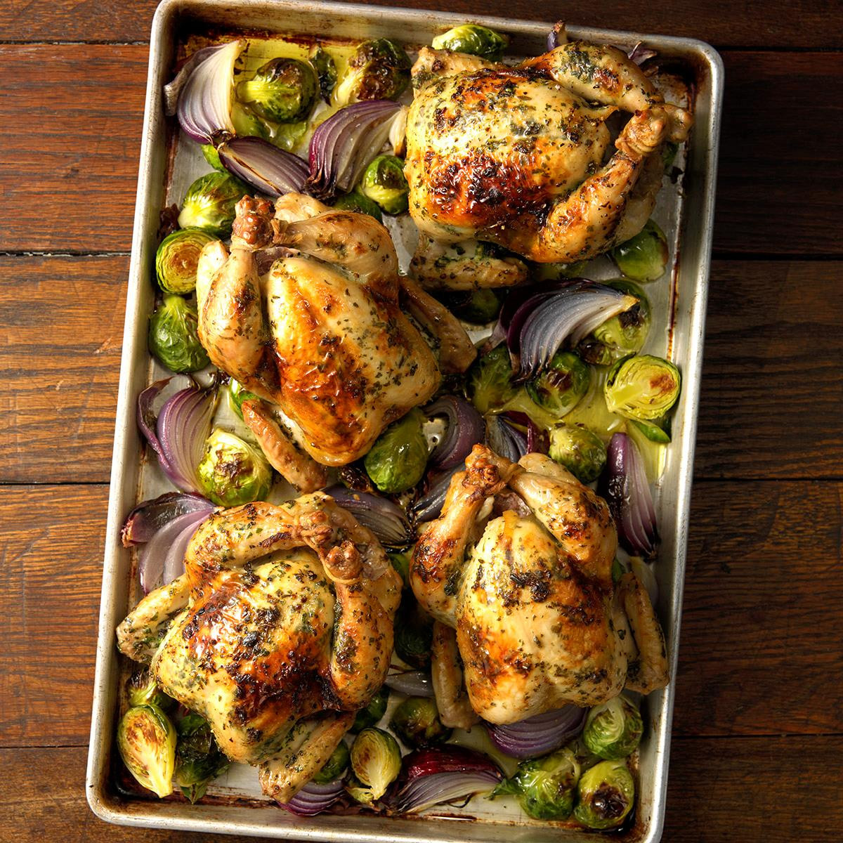 Recipes For Cornish Game Hens  Herb Brined Cornish Game Hens Recipe